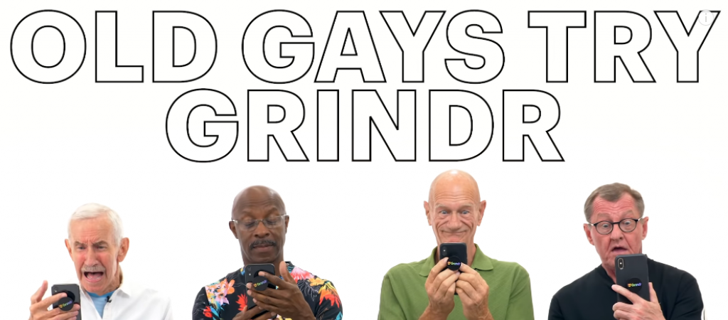 Old Gays testen Grindr // © YouTube/intomore