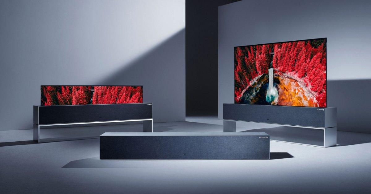 Aufrollbarer Fernseher