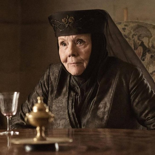 "Diana Rigg als Olenna Tyrell in ""Game of Thrones"" // © HBO"